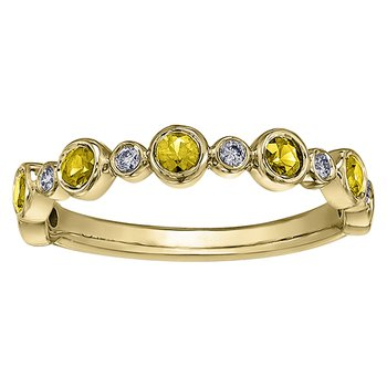Yellow Sapphire Ladies Ring