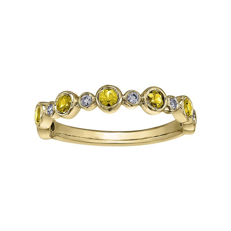 Lasting Treasures™ Yellow Sapphire Ladies Ring