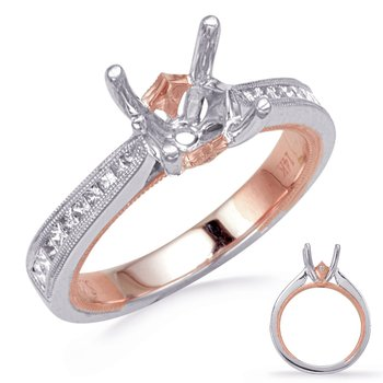 Rose & White Diamomd Engagement Ring
