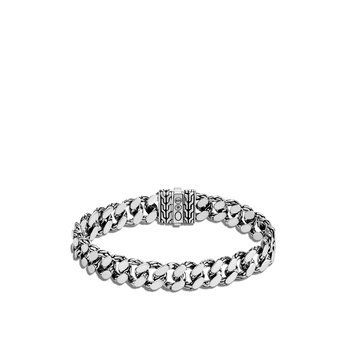 Classic Chain 11MM Curb Link Bracelet in Silver