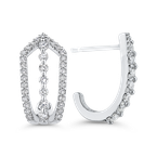 Round 1/2 ct Diamond Fashion J-Hoop Earrings
