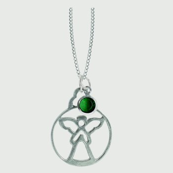 Birthstone Angel Pendant - May