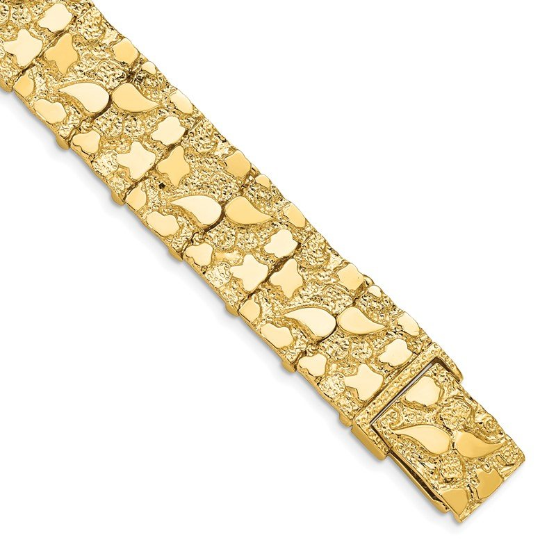 Quality Gold 14k 15mm Nugget Bracelet
