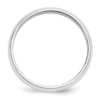 14k White Gold 5mm Half-Round Band