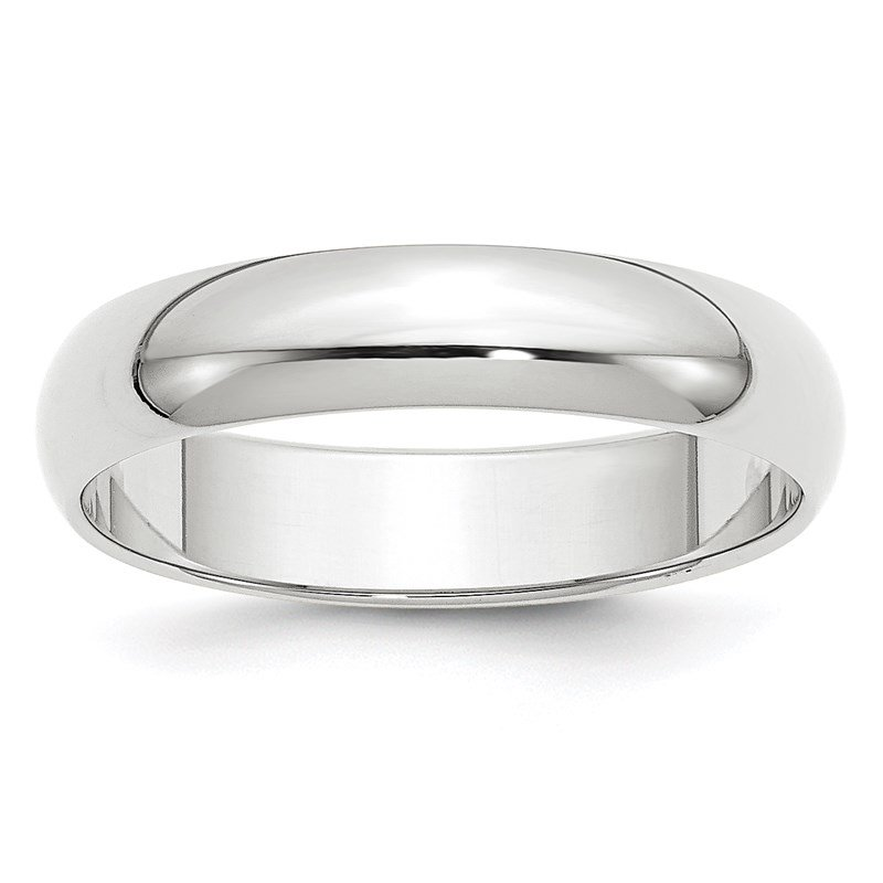 Quality Gold 14k White Gold 5mm Half-Round Band