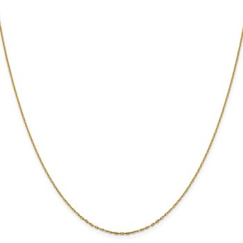 Leslie's 14K 1 mm D/C Long Open Cable Link Chain