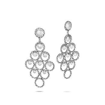 Dot Chandelier Earring in Hammered Silver