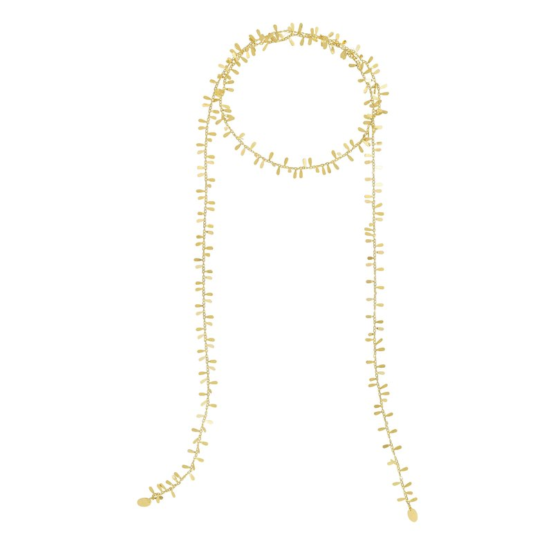 Royal Chain 14K Gold Flora Scarf Necklace