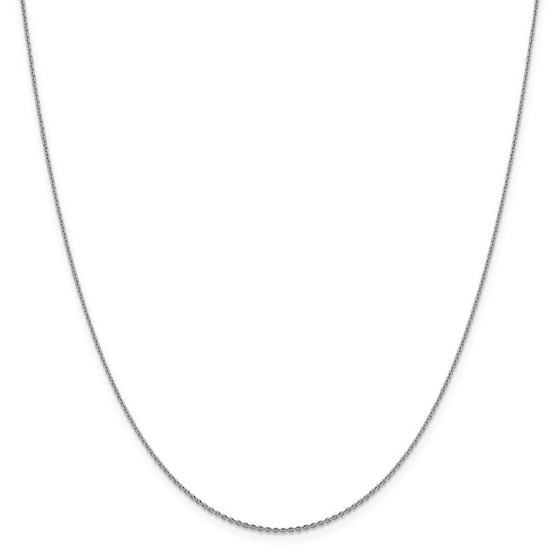 Leslie's Leslie's 14K White Gold 1.15mm D/C Oval Link Chain