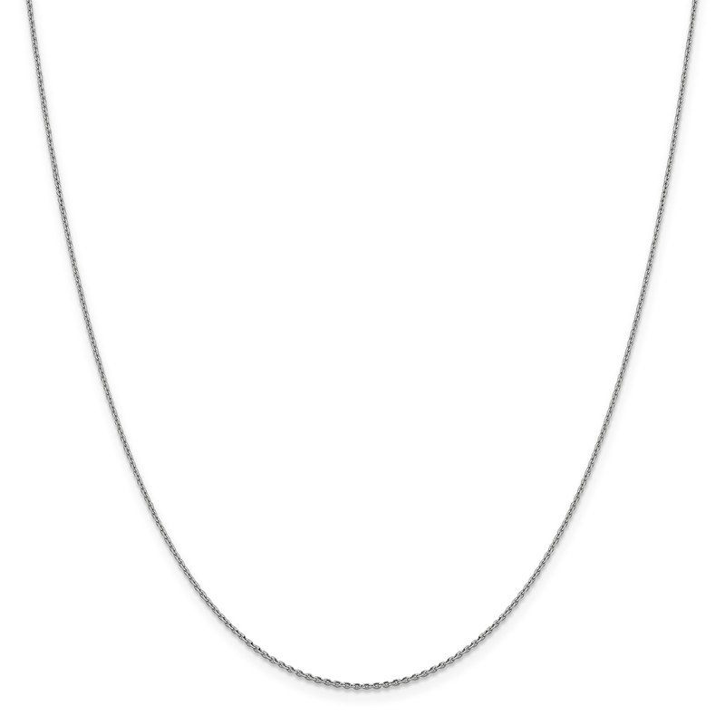 Leslie's Leslie's 14K White Gold 1.15 mm D/C Oval Open Cable Link Chain