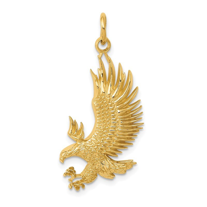 Quality Gold 14k Bald Eagle Charm