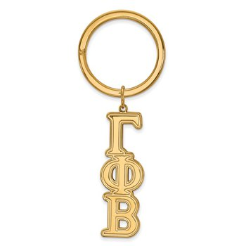 Gold-Plated Sterling Silver Gamma Phi Beta Greek Life Key Chain