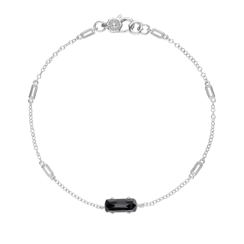 Tacori Fashion Solitaire Emerald Cut Gem Bracelet with Black Onyx