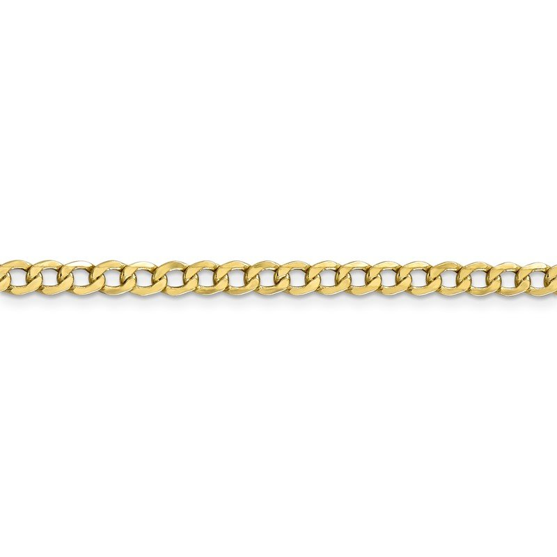Quality Gold 10k 4.3mm Semi-Solid Curb Link Chain
