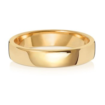 9Ct Yellow Gold 4mm Soft Court Wedding Ring