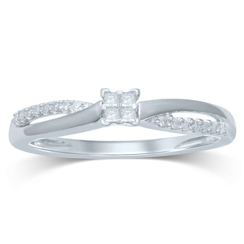 Low Cost Luxury 14K 0.15Ct Diamond Ring