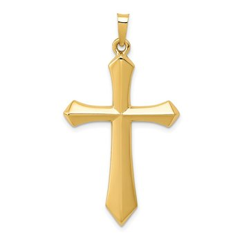 14k Polished Passion Cross Pendant