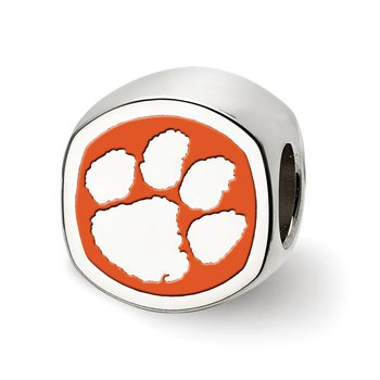 Sterling Silver Clemson University NCAA Bead