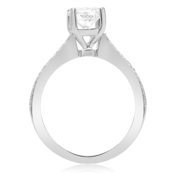 White Gold Half Pave Engagement Setting