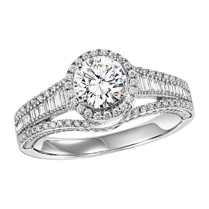 Bridal Bells 14K Diamond Engagement Ring 1/2 ctw with 3/4 ct Center