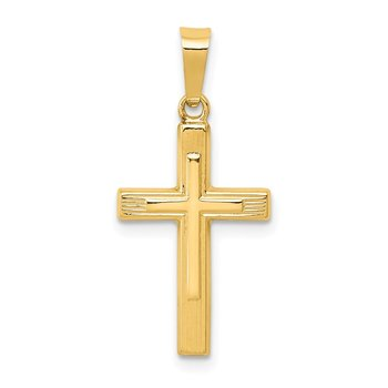 14k Polished Cross Latin Pendant