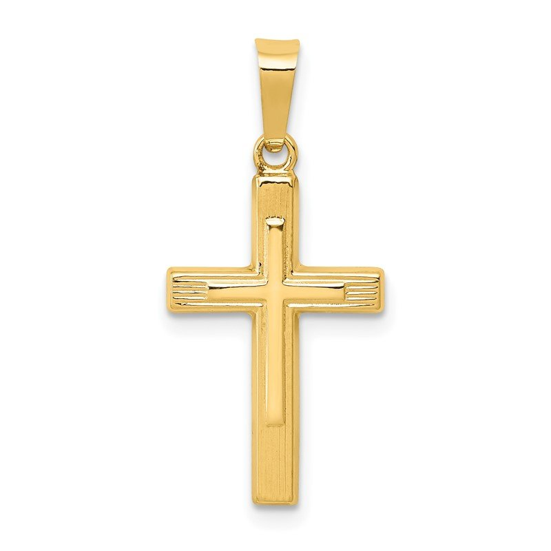 Quality Gold 14k Polished Cross Latin Pendant