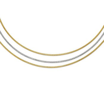 Leslie's Sterling Silver Gold-tone Layered w/2in ext. Necklace