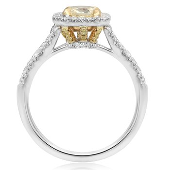 Radiant Yellow Diamond Halo Ring