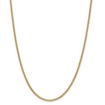 14k 2.4mm Semi-Solid Anchor Chain Anklet