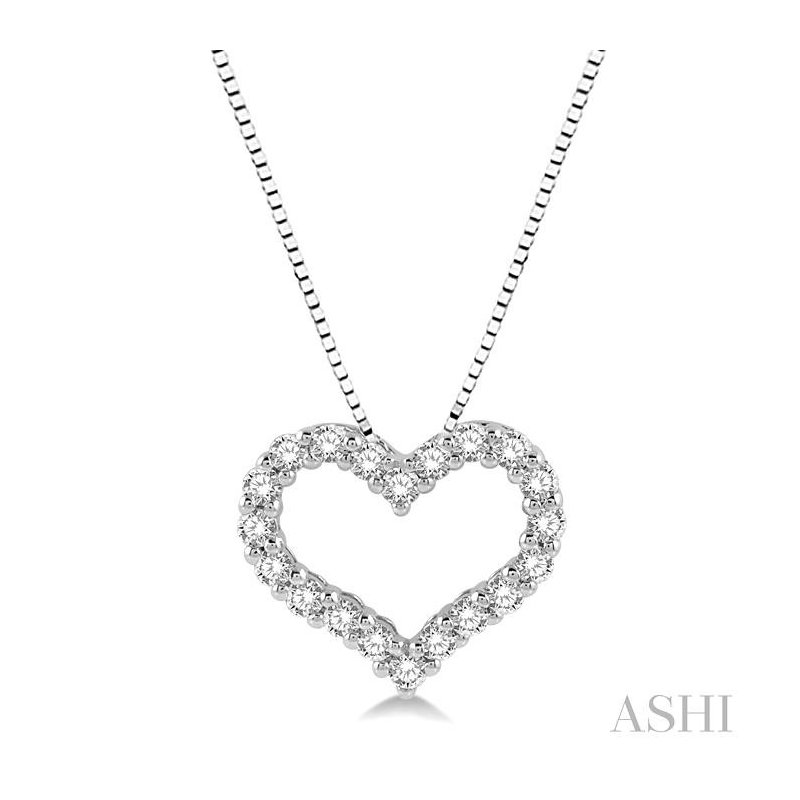ASHI heart shape diamond pendant
