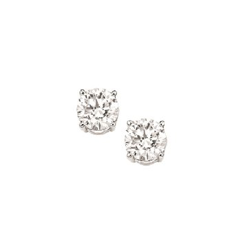 Diamond Stud Earrings in 18K White Gold (1/20 ct. tw.) I1 - G/H