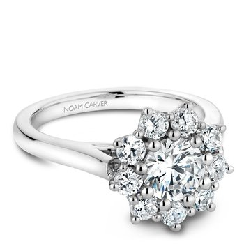 Noam Carver Floral Engagement Ring B090-01A