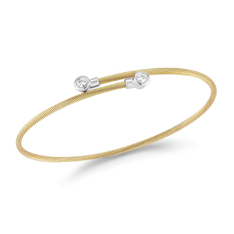I. Reiss 14K-Y WIRE BRACELET 0.15CT