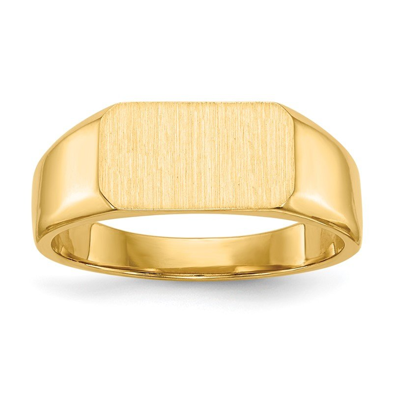 Quality Gold 14k 6.5x11.5mm Closed Back Signet Ring