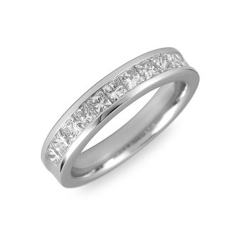 14K WG & PD Diamond Wedding Band