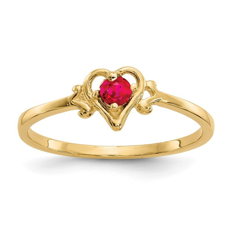 Lester Martin Online Collection 14K Ruby Birthstone Heart Ring