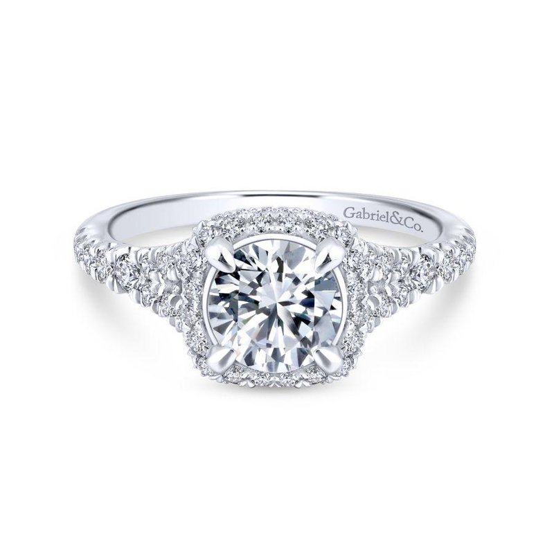 Gabriel Bridal Double Halo Engagement Ring
