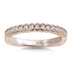 Valina Stackable Wedding Band in 14K Rose Gold (1/4 ct. tw.)