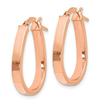 Leslie's 14K Polished U-Shape Hoop Earrings