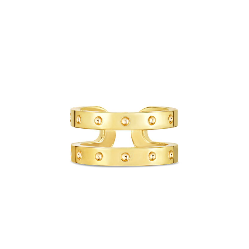 Roberto Coin 18Kt Gold Double Symphony Pois Moi Ring