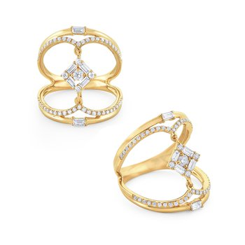Diamond Mosaic Fashion Ring Set in 14 Kt. Gold