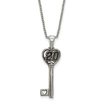 Stainless Steel 20 Matt Kenseth NASCAR Pendant