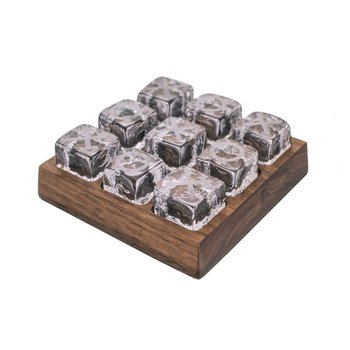 Ludlow Tic Tac Toe Set with Wood Base