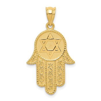 14k Hamsa w/Star of David Charm