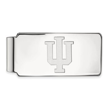 Sterling Silver Indiana University NCAA Money Clip