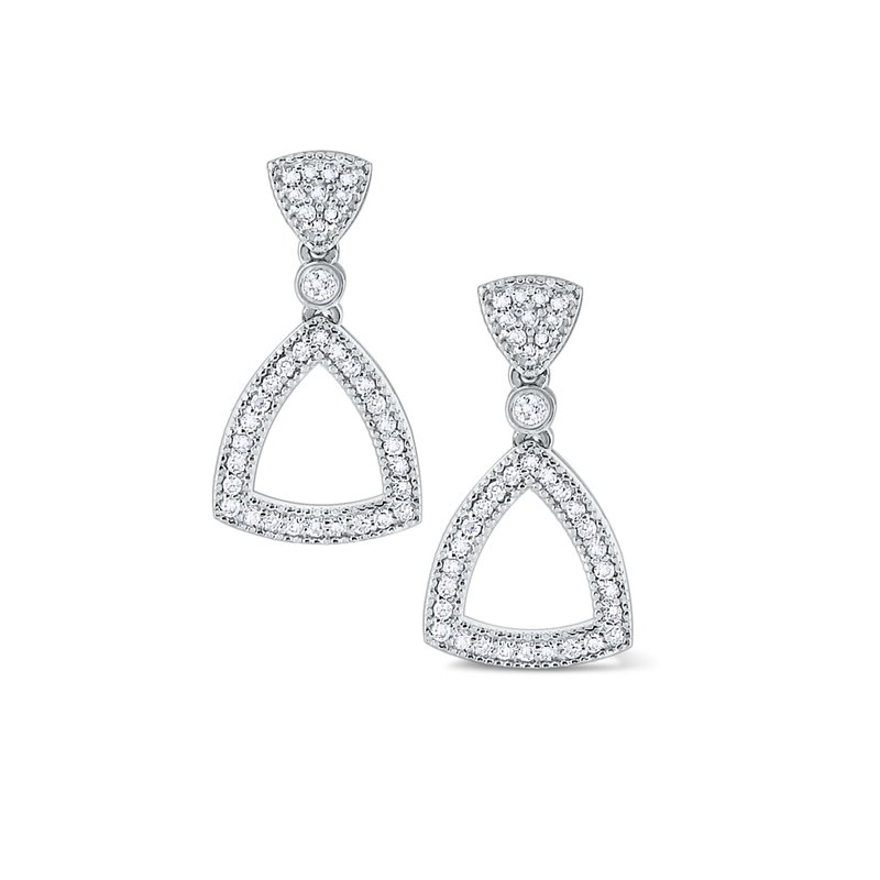 KC Designs Diamond Open Triangular Frame Earrings