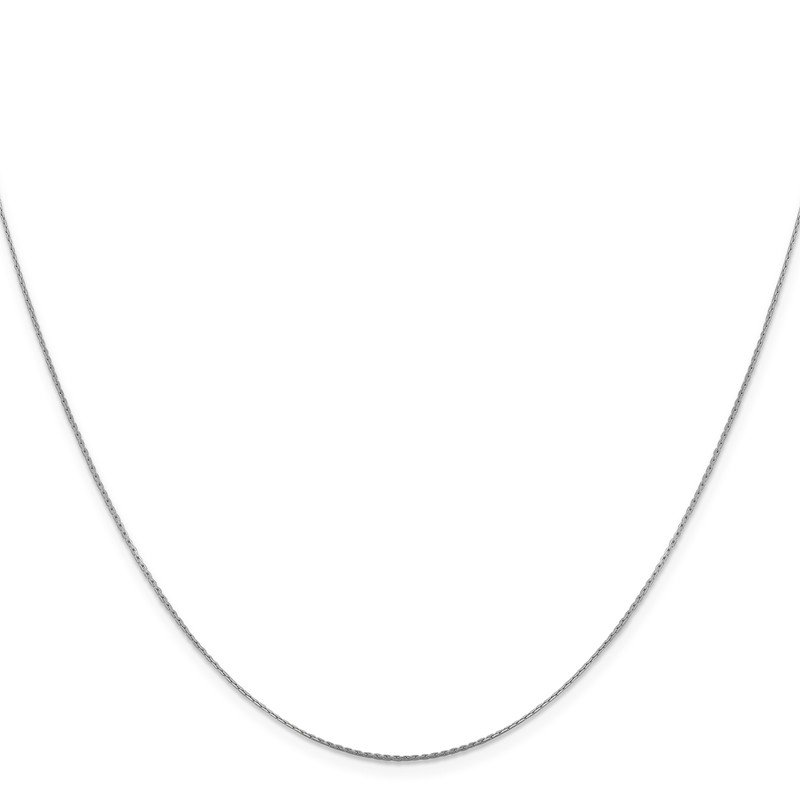 Leslie's Leslie's 14K White Gold .6 mm Boston Link Chain