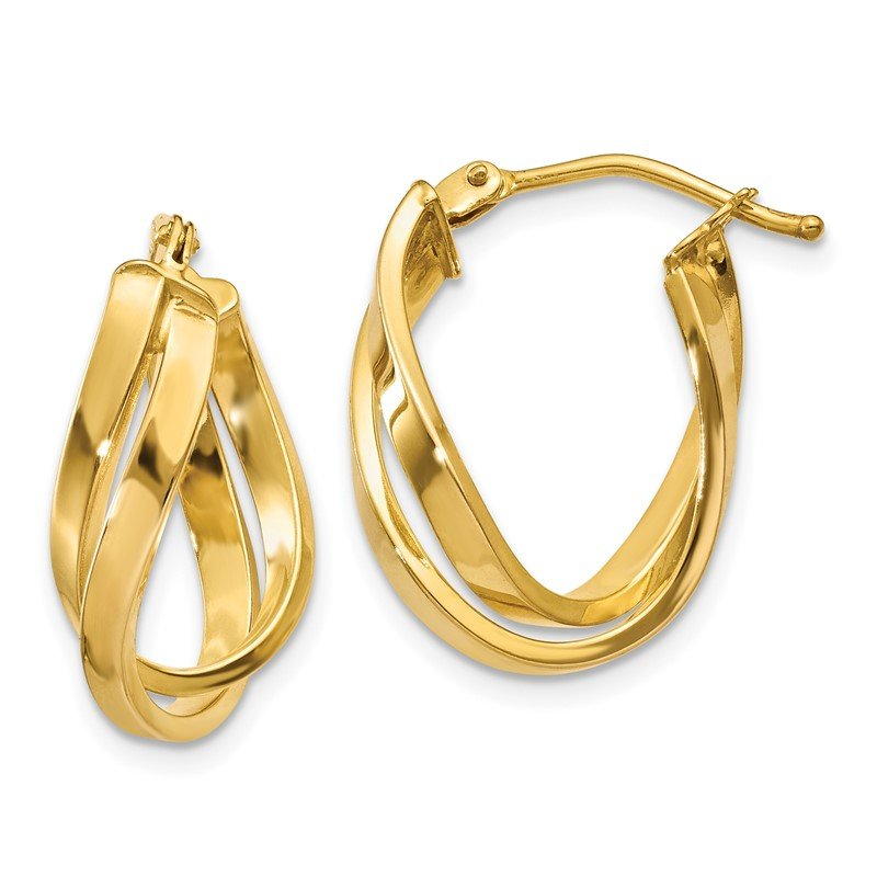 Quality Gold 14k Twisted Hoop Earrings