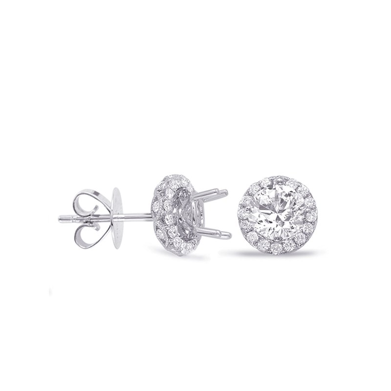 S. Kashi  & Sons Halo Diamond Earring For 1.5ct  jacket