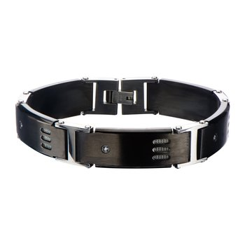 Black Plated Gun Metal with CZ Bracelet